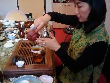 Guihua Zhou, maître de thé, en 2015
